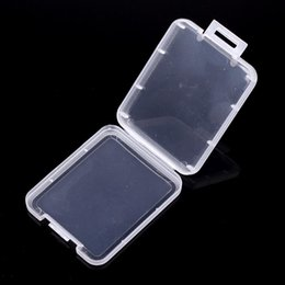 H Case Australia - Small Box Protection Case Card Container Memory Card Boxs Tool Plastic Transparent Storage Easy To Carry Practical Reuse 0 141f H R
