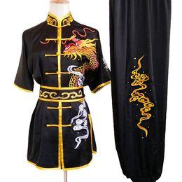 Wholesale Chinese wushu uniform Kungfu clothes Martial arts suit taolu outfit Routine garment changquan kimono for men women boy girl kids adults
