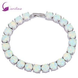 Jewelery Bracelets Australia - Glam Luxe Mysterious Silver White Fire Opal Bracelets & Bangles For Teen Girls Pulseiras Femininas Jewelery Woman Wedding B434 J 190429