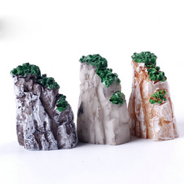 Wholesale Fashion Mini Mountain Bonsai Ornaments Plant Gardening Garden Accessories Natural Resin House Livingroom Decorative