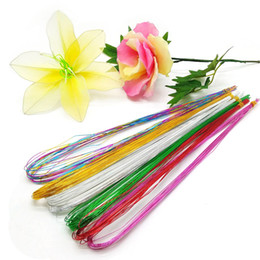 nylon flowers stocking NZ - 25Pcs 80cm Long Stocking Flower Iron Wire Used For DIY Nylon Flower Making Floral Wire Ronde Material Accessory 0.46mm