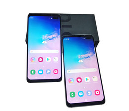 android google goophone NZ - Goophone S10 Plus S10+ 6.5 inch Iris Fingerprint Unlocked Quad Core MTK6580 Android 9.0 3G Phone 1GB RAM 8GB ROM 1280 *720 HD Smart Phone
