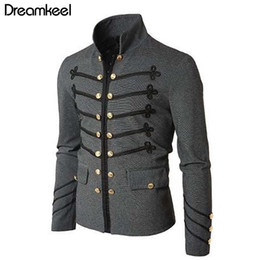 Victorian Coats Australia - 2019 Man Purim Victorian Gothic Style Jacket Zipper Christian Medieval Knight Coat Solid Middle Ages Male Carnival Clothing Y