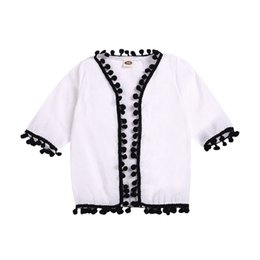 Jacket design girl online shopping - Baby Girl Clothes Summer Baby Girl Tassel Design Blouse Anti UV Infant Toddler Children Clothes