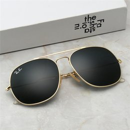 Wholesale Luxury Men Designer Sunglass Attitude Driving Sunglasses Logo On Ellipse Lens Men Designer Outdoor Sunglasses Shiny Gold New With Box