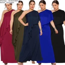 $enCountryForm.capitalKeyWord NZ - Paragraph Fat Mm2019. Enlarge Code Women's Clothes Oblique Shoulder Easy Dress