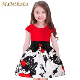 $enCountryForm.capitalKeyWord NZ - Kids Baby Girls Dresses 2019 New Summer Floral Print O-neck Short Sleeves Princess A-line Knee-length Child Dress Clothing Ds519