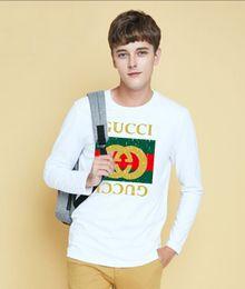 Long Sleeve Polo Necks Australia - New Arrive Mens T Shirts Fashion O-Neck casual Long Sleeve T-Shirt Gradient band Clothing T Shirt Homme 611907 polo shirt BIG SIZ