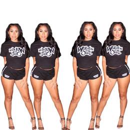 short sport jogging woman 2019 - Women sportswear short sleeve outfits 2 piece set tracksuit jogging sportsuit shirt legging outfits sweatshit tight spor