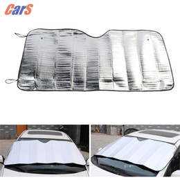 car window foil NZ - Window Foils Windshield Sun Shade Car Sun Visor Cover Block Front Window UV Protect Car Film 130*60cm car-stylin