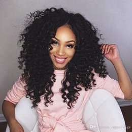 Malaysian Kinky Curly Full Lace Wig Australia - Malaysian Brazilian Human Hair Wigs Wholesale Kinky Curly Lace Front Wigs With Bleached Knots Natural Hairline Full Lace Wigs