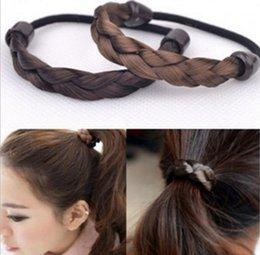 hair extensions bands 2019 - DHL 1000pcs Fashion Braided Hair Band For Women Pigtail Type Rubber Bands Korean Style Headwear Hair Extension Ponytail