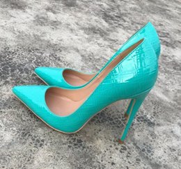 $enCountryForm.capitalKeyWord Australia - new style Light green Women's Red Bottom Cusp Fine heel High-heeled Shoes Shallow-mouthed Single Shoes large size 44 nightclub 8cm 10cm 12cm