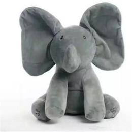 $enCountryForm.capitalKeyWord Australia - Soft Elephant Plush Toy Cute Baby Animated Flappy The Elephant Plush Toy Bedtime Kawaii Stuffed Animals Gift
