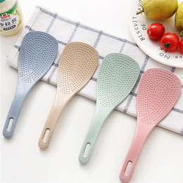 $enCountryForm.capitalKeyWord Australia - Kitchen Plastic Rice Tool Rice Spoon Eco-friendly 4 Colors Available Wheat Straw and Plastic Rice Scoop