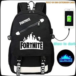520de8a821 Fortnite Bag Drawstring Bag Travel Softback Luminous Backbags Schoolbags  Fortnite Backpacks Kids Party Gift Bag Backpack F65