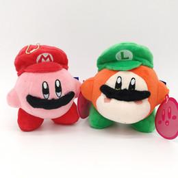 "$enCountryForm.capitalKeyWord Australia - Top New 2 Styles 5"" 13CM Kirby Waddle Dee With Mario Luigi Hat Plush Doll Anime Collectible Dolls Keychains Pendants Stuffed Gifts Soft Toys"