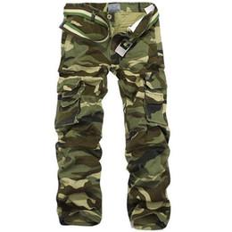 $enCountryForm.capitalKeyWord UK - Camouflage Pants Men Multi Pocket Cotton Military Cargo Camo Pants Pantalon Homme Mens Streetwear Overalls Army Track Trousers
