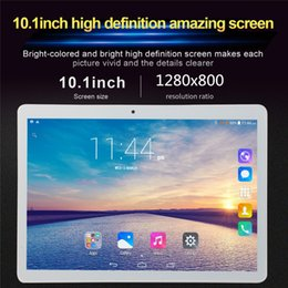 32gb 3g android tablet pc NZ - 10.1' Tablet 3G Phone Call Android 6.0 Wi-Fi Bluetooth 4GB 32GB Octa Core Dual SIM WPS GPS PC tablette enfant fnf tablet phone