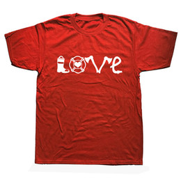 20a4038b3d Funny Fire Firefighter Birthday Novelty Men's T Shirts Short Sleeve Cotton  O-neck Fireman Love T-Shirt