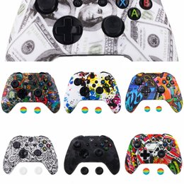 novel cases NZ - t0TON Neon Novel Patterned Faceplate Front Housing Shell Case (Model Part for Xbox One X & One S Controller Replacement 1708)
