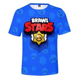Shirt Stars Australia - Brawl Stars T-shirts Tees 2019 3D Digital Printed Short Sleeve T-shirt Tops Cartoon T-shirt Tops Designer Clothes XXS-4XL Q2671