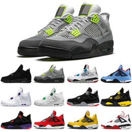 plastic cactus Canada - 2020 new jumpman 4 4s black cat men basketball shoes cactus jack Bred Loyal Blue Royalty Carnival mens trainers sports sneakers size 7-13