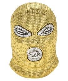 $enCountryForm.capitalKeyWord Australia - Hip Hop CSGO Pendant Necklace Mens Punk Style 18K Alloy Gold Silver Plated Mask Head Charm Pendant High Quality Cuban Chain