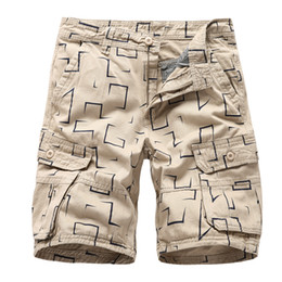 Discount clothes trading - Multi-pockets Shorts -Black, Navy, Army Green and Khaki Mens Army Style Work Trade Durable Cargo Shorts Casual Summer Cl
