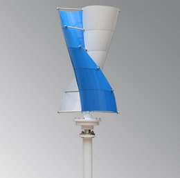 Turbine Controller Australia - Vertical white blue color Wind Turbine Generator fast shipping Max 500W 10pcs Blades with Wind Generator Controller