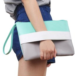 $enCountryForm.capitalKeyWord NZ - Fashion Women Handbag Daily Clutch Soft PU Zipper Design Patchwork Color Summer Style For Mother's Day Amazing Gifts #43972