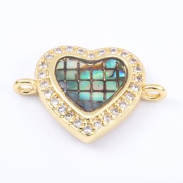 Micro Pave Connectors Australia - Singreal Abalone Shell Micro Pave Evil Eye Charms Bracelet necklace Choker Pendant connectors for women DIY Jewelry making