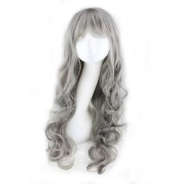 $enCountryForm.capitalKeyWord UK - Details about Women Fashion Long Curly Grandmother Grey Hair Wigs Synthetic Cosplay Full Wig