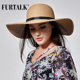 $enCountryForm.capitalKeyWord NZ - wholesale Summer Straw Hats for Women Fashion Design Women Beach Sun Hat with Foldable Brimmed