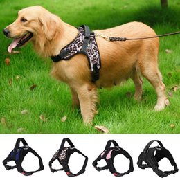 Pet Straps Australia - Canvas CottonDog Harness Vest for Dogs Breathable Walking Training Chest Strap Harness For Dog Clothes Leading Pet Leash Bulldog