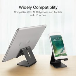 Wholesale Aluminum Metal Phone Holder Desktop Universal Non slip Mobile Phone Stand Desk Hold for iPhone IPad Samsung Tablet