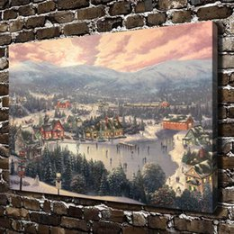 SunSet lake painting online shopping - Sunset on Snowflake Lake Home Decor HD Printed Modern Art Painting on Canvas Unframed Framed