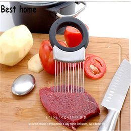 design gadgets UK - New Design Easy Cut Onion Holder Fork Stainless Steel Soap Vegetable Slicer Tomato Cutter Metal Meat Needle Gadgets Multifunction