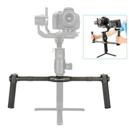 Stabilizer Grip Handle NZ - Aluminum Alloy Dual Handle Grip with 1 4 inch Screws Handheld Bracket Handlebar for DJI Ronin-S Gimbal Stabilizer