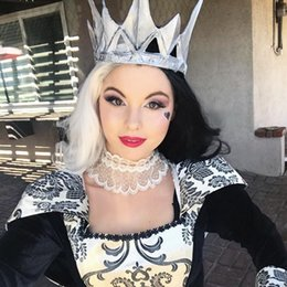 cosplay white lace front wig NZ - Long Body Wave Hair Half Black Half White Color Cosplay Party Synthetic Lace Front Wigs Natural Hailline Soft Feeling Real Pictures