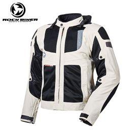 Nylon Racing Motorcycle Jacket Australia - 2018 new ROCK BIKER Anti-falling Waterproof Men Jacket Motorcycle off-road Racing Motocross reflective Protective Gear Armor Jacket