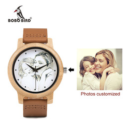 $enCountryForm.capitalKeyWord Australia - Custom Brand Your Own Photo Watch Unique Bamboo Wood Leather Causal Quartz Men Watches Customized Logo Birthday Gift For Lovers Y19052103