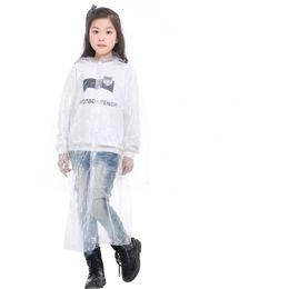 Wholesale Kid Transparent Hood Rain Coats Disposable Pure Color Elastic Cuff Pure Color Hiking Must Poncho Raincoat Light Rainwear Hot Sale 1 8qh2 E19