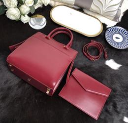 $enCountryForm.capitalKeyWord Australia - Fashion brand women's handbag designer shoulder bag genuine leather high quality two-piece designer Clutch bag 23*23*11cm designe handbag