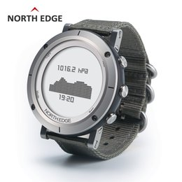 Thermometer Altimeter NZ - Men Sports Watch Compass Altimeter Barometer Thermometer Heart Rate Monitor Pedometer Watches Digital Running Climbing Watch Y19021402