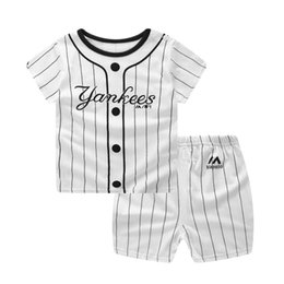top winter baby girl year 2019 - Boys Girls Sport Suit Summer Clothes Sets Short Sleeve Outfits Tops Shorts Children Clothing 0-5 Years Baby Costume chea