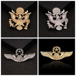 20b4d6a9568 EaglE brooch online shopping - Flying Eagle Pins Pentagram Brooch Retro  Badge Men Wing Classic Style