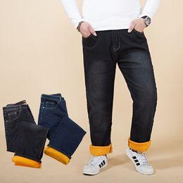 $enCountryForm.capitalKeyWord Australia - 2018 New Men's jeans with big large size lastic waist fleece add wool for Winter male Jeans stretch trousers men modis flocking