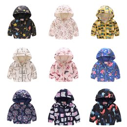 $enCountryForm.capitalKeyWord Australia - 2019 Kids Clothes Boys Jackets Children Hooded Zipper Windbreaker Baby Fashion Print Coat Infant Hoodies For Girls LE417