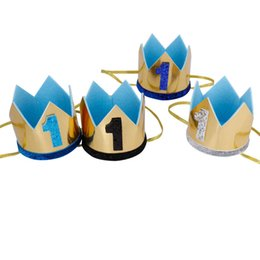 $enCountryForm.capitalKeyWord UK - New Ins glisten Crown baby headbands birthday party kids head bands Childrens designer headband girls designer headbands boys headband A4927